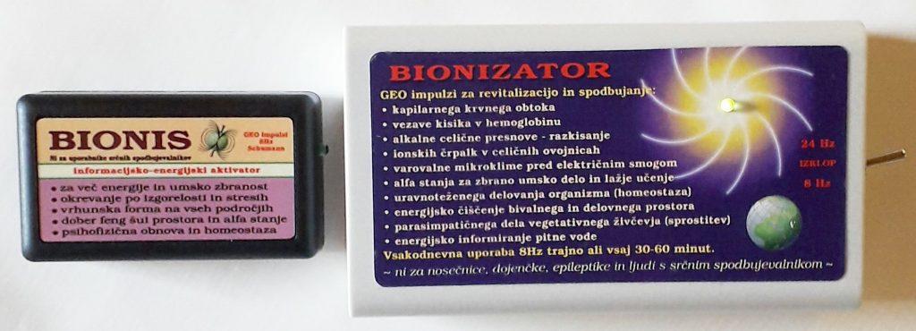 Bionis in Bioniztator oddajata geo impulze za lafa stanje