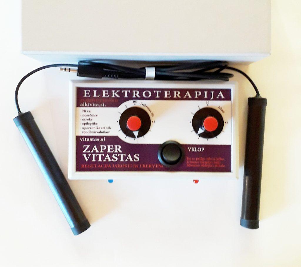 Elektroterapija Zaper Vitastas za ozdravitev ustvarja bioelektrične frekvence v območju elektricnega skata