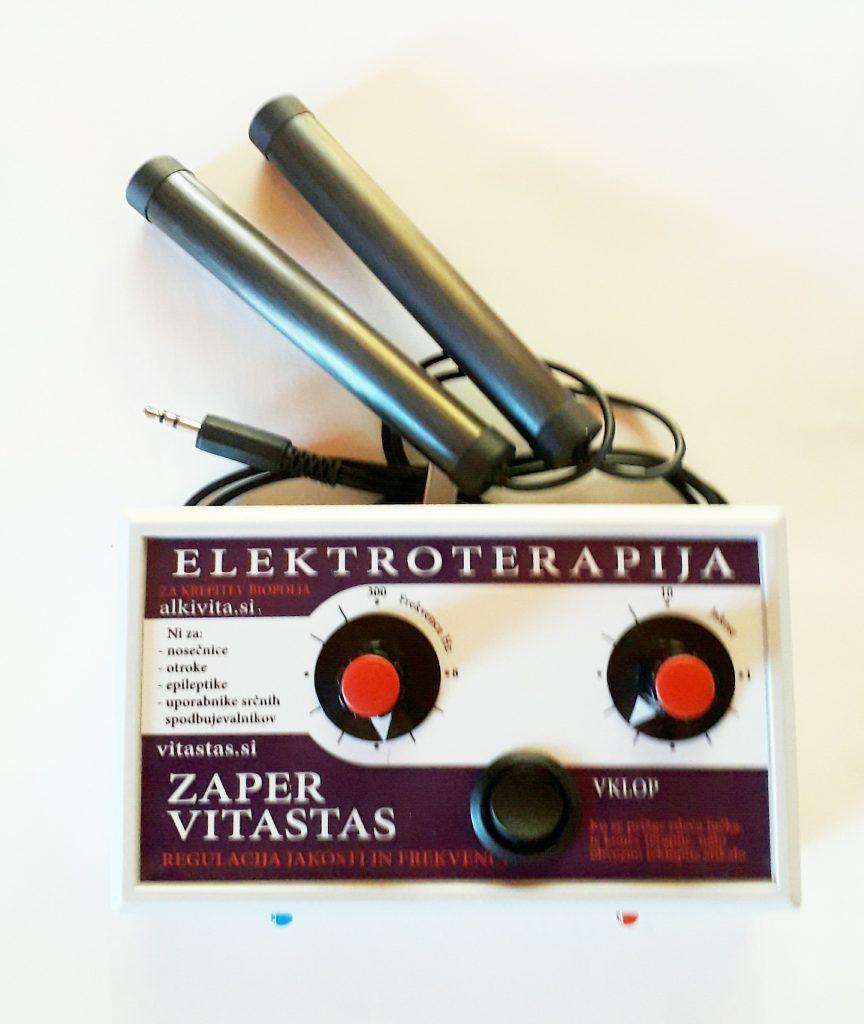 Elektroterapija Zaper Vitastas z regulacijo jakosti in frekvence